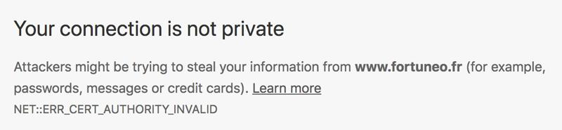 SSL-Warning